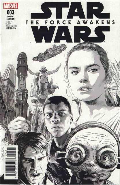 Star Wars Force Awakens Adaptation #3 1:75 Mike Deodato Sketch Variant Marvel
