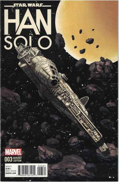 Star Wars Han Solo #3 1:10 Shalvey Millennium Falcon Variant Marvel 2016