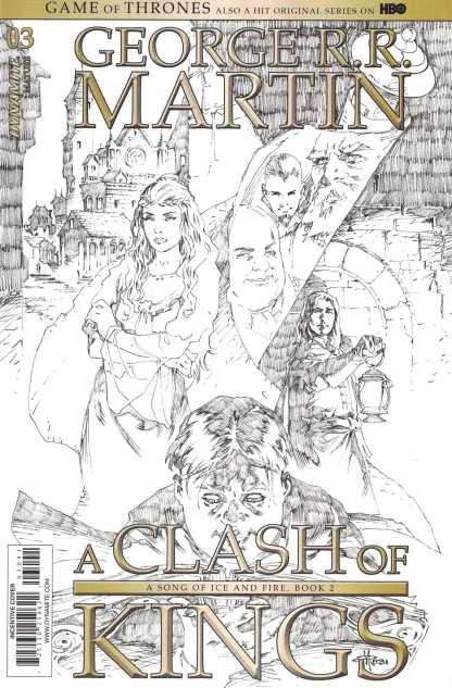 Game of Thrones Clash of Kings #3 1:15 Mel Rubi B&W Sketch CVR D Dynamite 2017