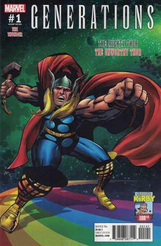 Generations Unworthy Thor Mighty Thor #1 1:10 Jack Kirby Variant Marvel 2017