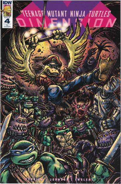 TMNT Dimension X #4 1:10 Kevin Eastman Retailer Incentive Variant IDW 2017