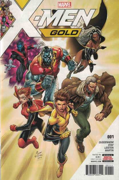 X-Men Gold #1 Adrian Syaf Cover A 1st First Print Marvel 2017