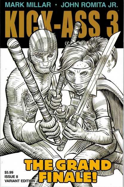 Kick-Ass 3 #8 1:50 John Romita Jr Sketch Cover
