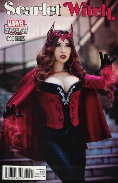 Scarlet Witch #10 1:15 Yaya Han Cosplay Variant Marvel ANAD 2015 RARE