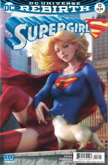Supergirl #13 Stanley Artgerm Lau Variant DC Rebirth 2016