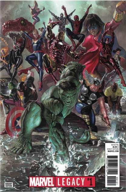 Marvel Legacy #1 1:50 Alex Ross Avengers Color Variant 2017