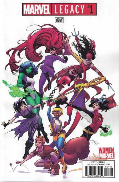 Marvel Legacy #1 1:25 Amy Reeder Women of Marvel Variant 2017