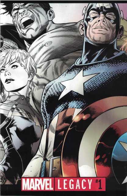 Marvel Legacy #1 Joe Quesada Partial Sketch Premiere Variant 2017 Avengers