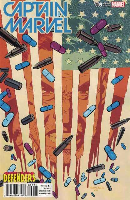 Captain Marvel #9 Samnee Defenders Variant Punisher Marvel ANAD 2016