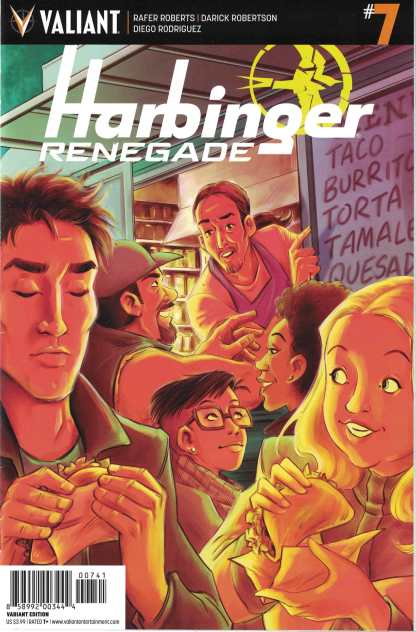 Harbinger Renegade #7 1:20 Colleen Coover Valiant Variant 2016