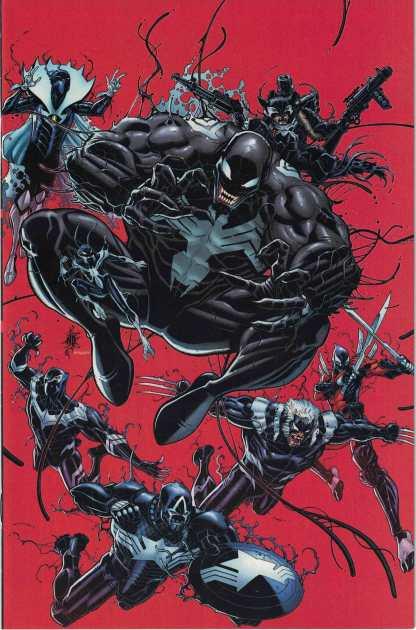 Venomverse #1 1:100 Nick Bradshaw Virgin Variant Marvel 2017