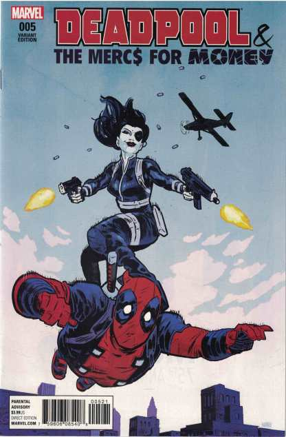 Deadpool and Mercs for Money #5 1:25 Michael Walsh Variant Marvel 2016