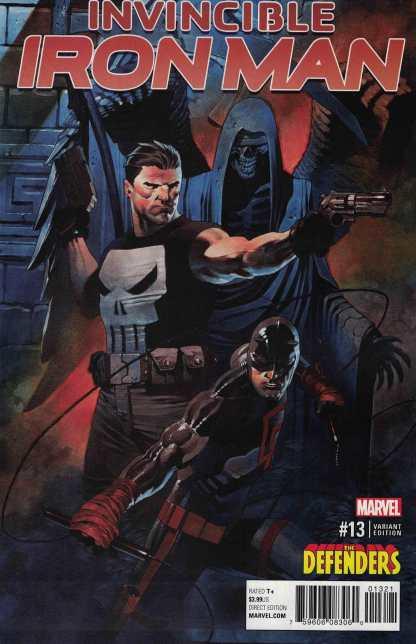 Invincible Iron Man #13 Chris Stevens Defenders Punisher Variant Marvel 2015