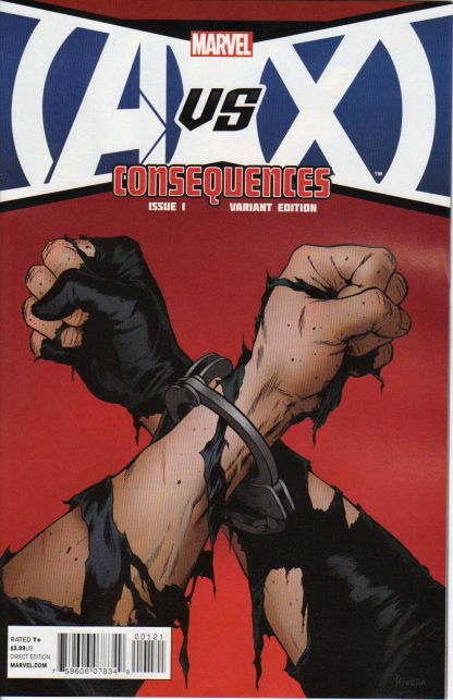 AvX Consequences #1 1:20 Paolo Rivera Promo Variant Marvel 2012