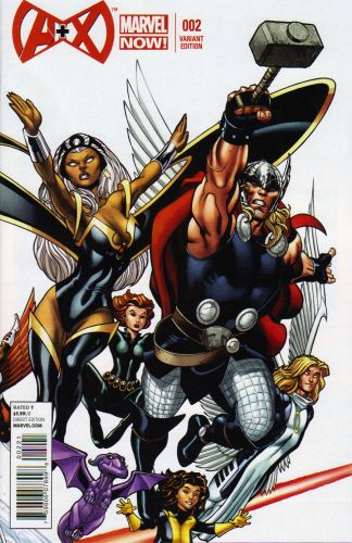 A+X #2 1:25 Ed McGuinness Color Variant Marvel 2012 Avengers Plus Men Thor Storm