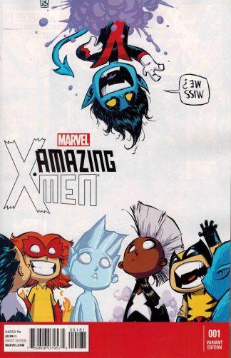 Amazing X-Men #1 Skottie Young Marvel Babies Variant Nightcrawler 2014 Aaron