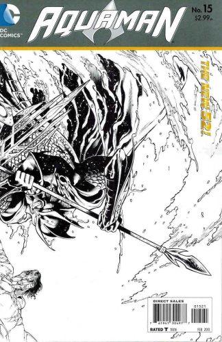 Aquaman #15 1:25 Sketch Variant The New 52! Throne of Atlantis