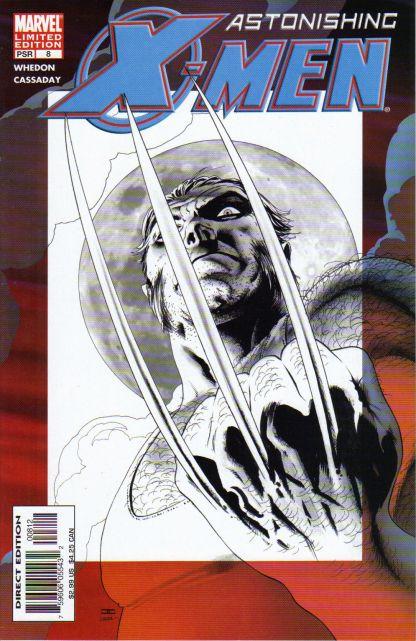 Astonishing X-Men #8 John Cassaday Black & White Variant