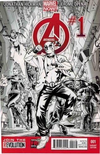 Avengers #1 Deadpool Style Sketch Party Variant Marvel NOW 2013
