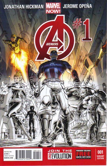 Avengers (2012) #1 Personalized Retailer Variant Carolina Comics Marvel Now