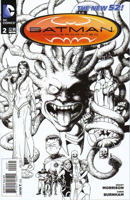 Batman Incorporated #2 1:100 Frank Quietly B&W Sketch Variant DC 2012 New 52