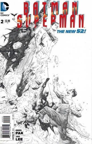 Batman Superman #2 1:100 Jae Lee Sketch Variant DC New 52
