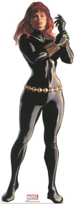 Black Widow 70in. Life-Size Cardboard Cutout Marvel Alex Ross Timeless Collection US Only