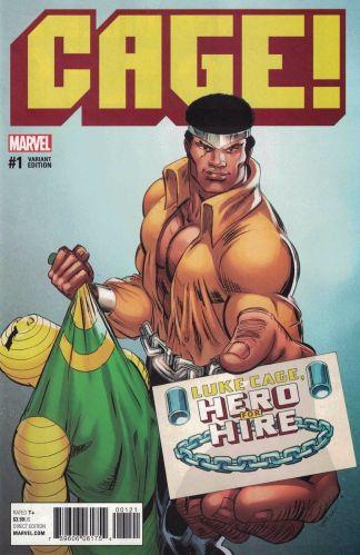 Cage #1 1:25 Von Eeden Classic Variant NOW Marvel 2016