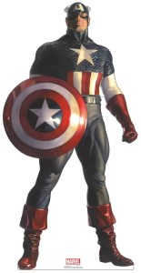 Captain America 74in. Life-Size Cardboard Cutout Marvel Alex Ross Timeless Collection US Only