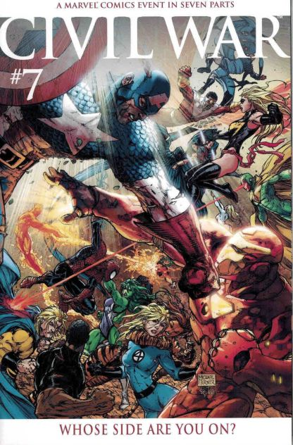 Civil War #7 1:15 Michael Turner Color Variant Avengers Marvel 2006