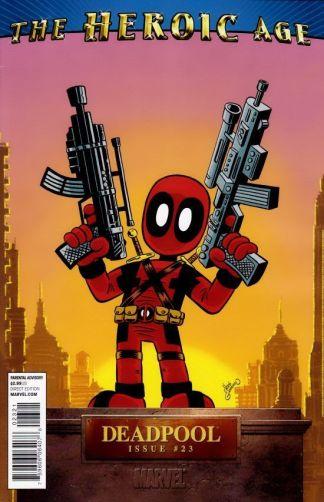 Deadpool #23 1:15 Chris Giarusso G Mini Marvels Variant Heroic Age 2008