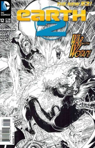 Earth 2 #12 Black and White Sketch Variant