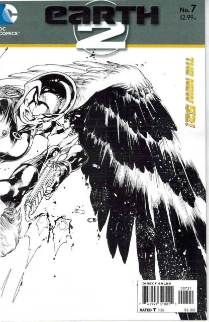 Earth 2 #7 1:25 Sketch Variant The New 52!