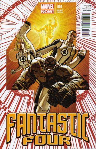 Fantastic Four #1 1:50 Dave Johnson Variant Marvel 2012