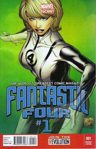 Fantastic Four #1 1:100 Joe Quesada Color Variant Marvel 2012 Invisible Woman