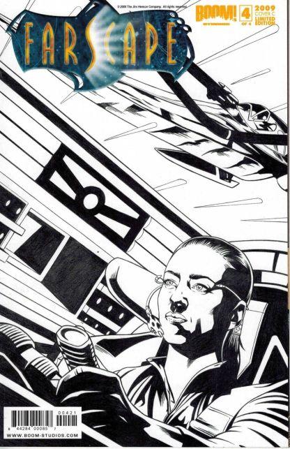 Farscape #4 Joe Corroney Black and White Sketch Variant
