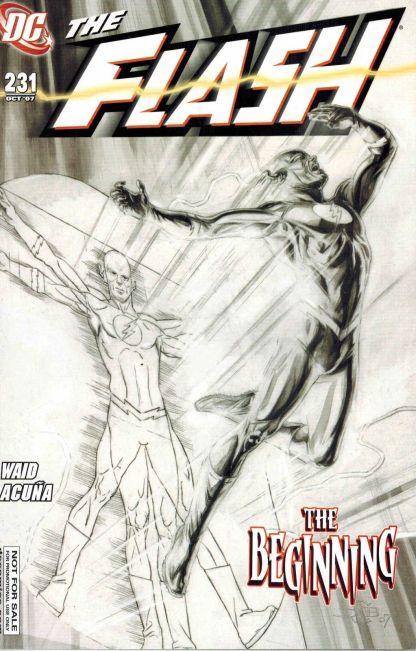 Flash #231 Black and White Retailer Promo Variant