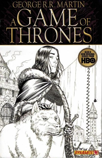 Game of Thrones #4 Black and White Mike S Miller Sketch Variant