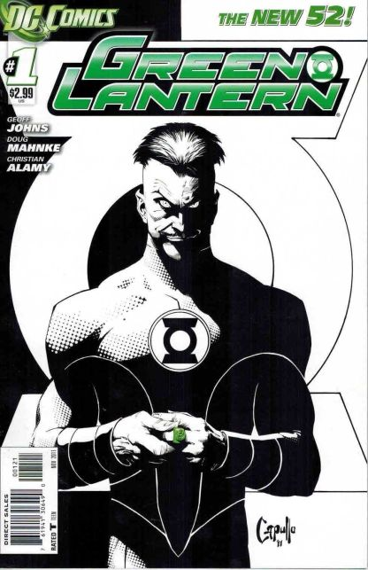Green Lantern #1 Greg Capullo Black and White Sketch Variant DC New 52 2011