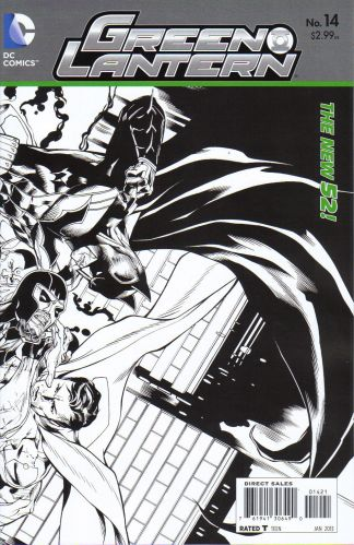Green Lantern #14 1:25 Sketch Variant The New 52!