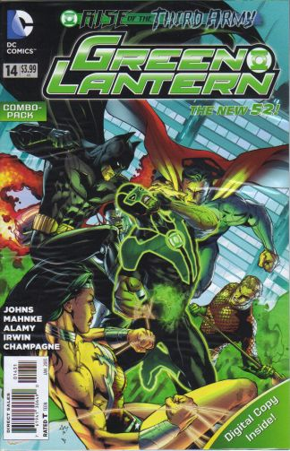 """Green Lantern #14 Digital Combo-Pack """"Rise of the Third Army"""" The New 52!"""