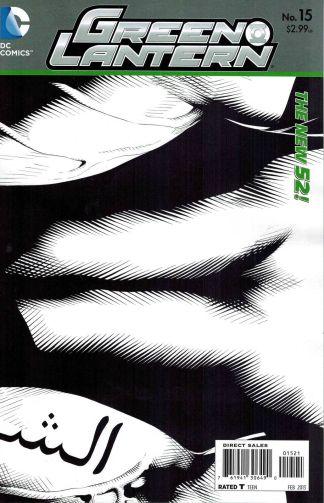Green Lantern #15 1:25 Sketch Variant The New 52!
