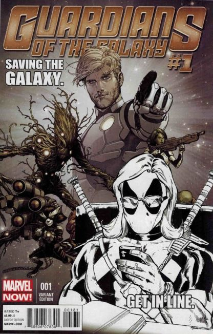 Guardians of the Galaxy #1 Sketch Texts from Deadpool Variant One Per Store!