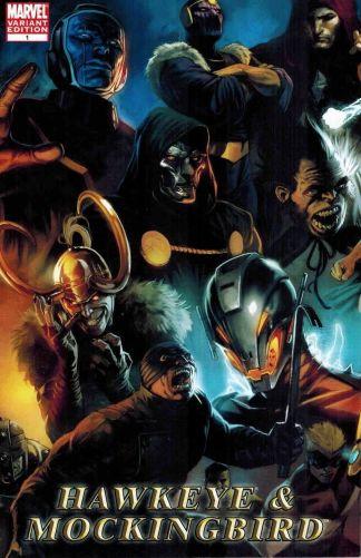 Hawkeye and Mockingbird #1 1:25 Marko Djurdjevic Ultron Villains Variant 2010