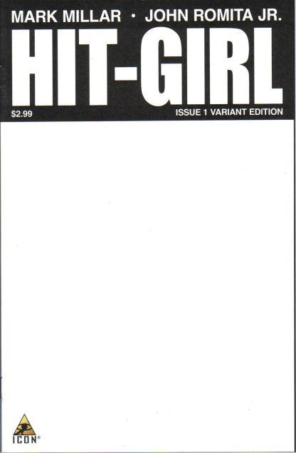 Hit-Girl #1 Blank Sketch Variant Icon 2012 Kick-Ass Mark Millar John Romita Jr