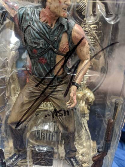 Movie Maniacs 3 Army of Darkness Ash- Bruce Campbell Signed McFarlane Toys