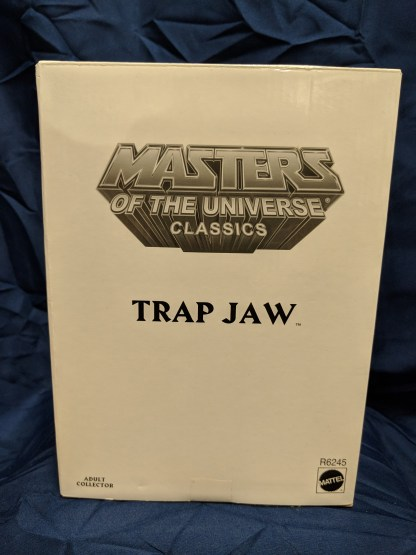 He-Man Masters of the Universe Classics Trap Jaw w/ Labeled Box