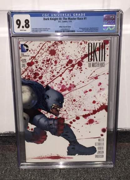 Dark Knight III Master Race #1 1:100 Frank Miller Wrap Variant CGC 9.8 DK3 2015