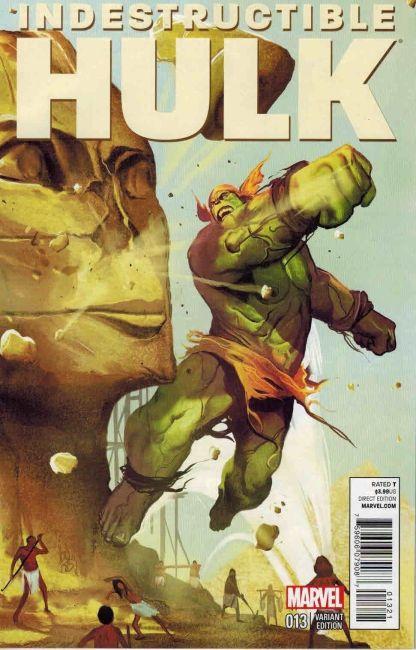 Indestructible Hulk #13 Mike Del Mundo Time Travel Sphinx Variant