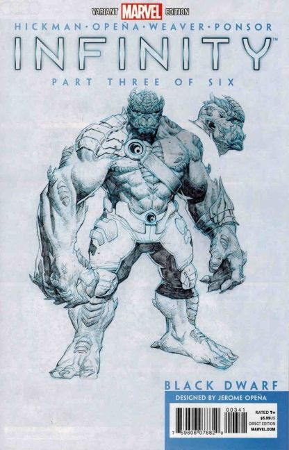 Infinity #3 Jerome Opena Black Dwarf Character Sketch Variant